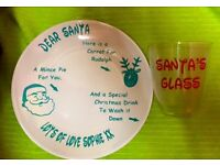Children's Christmas Eve Santa Plate and Glass