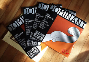 set of Dominant double bass strings - cheap!