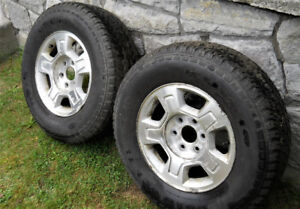 2 CHEVY ALUMINUM 17in. rims and tires 265/70R17