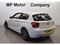 2013 63 BMW 1 SERIES 1.6 114D SPORT 3D 94 BHP 6SP ECO DIESEL HATCH,WHITE,70,000M