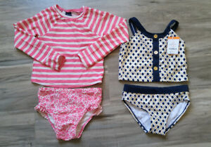Little Girl Swim Suits, Size 5-6 Y, Gap/Gymboree