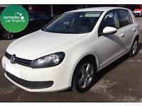 £161.84 PER MONTH WHITE 2011 VW GOLF 1.6 TDI MATCH 5 DOOR DIESEL MANUAL