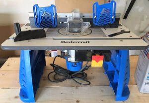 Mastercraft Custom Router Table, Router & Router bit set
