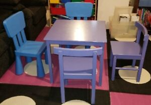 Toy Wooden Table and Chairs
