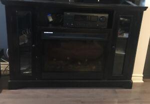Meuble télé avec foyer