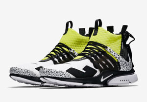 Acronym x Nike Air Presto- White/Black Dynamic Yellow Size 11