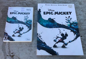 NINTENDO WII - DISNEY EPIC MICKEY GAME WITH BOOK
