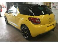 2013 YELLOW CITROEN DS3 1.6 VTI 120 DSTYLE PLUS PETROL CAR FINANCE FR £20 PW