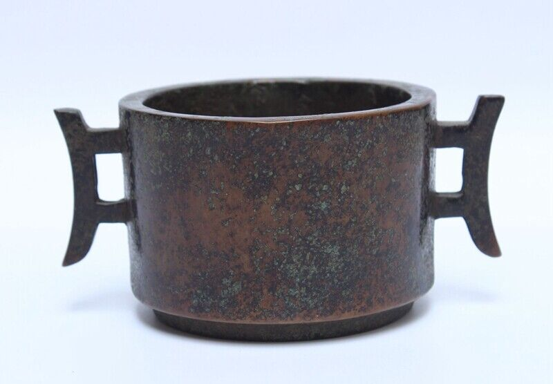 Chinese Antique Copper Censer Incense Burner Cup Xuan Mark