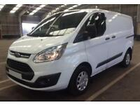 2016 WHITE FORD TRANSIT CUSTOM 2.2 TDCI 125 290 SWB TREND CAR FINANCE FR £46 PW