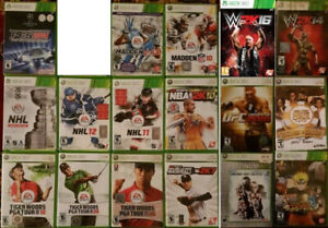 XBOX 360 Sports, Fighting, Poker Games (Various Prices) '