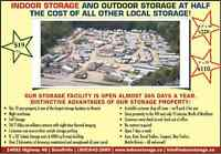 INDOOR / OUTDOOR STORAGE & PARKING - HALF PRICE