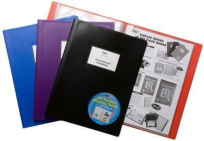 A4 Cover Display Presentation Document Folder File Protector Value 40 Pockets X1