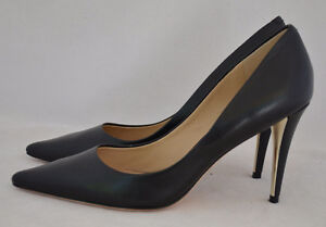 MARCIANO GUESS Leather Classic Pumps Shoes Heels Black New