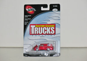 Hot Wheels Custom Classic Trucks '56 Ford 1:64 Diecast in Red