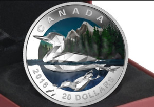 RCM   2016  Geometry in Art Series - The Loon  $20.00 Coin