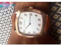 New square dial rose gold audemars piguet watch