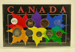 Complete set of 2005 Canada Coins on Collector Card