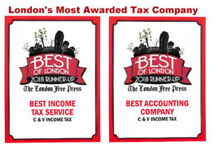VOTED ONE OF LONDONS BEST TAX COMPANIES - OPEN YEAR ROUND !!!
