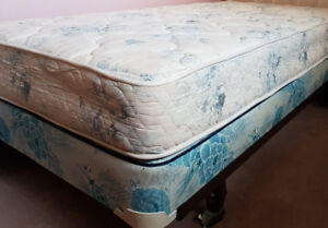 TWO twin bed sets with frames & headboards