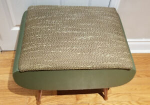 Vintage ottoman / sewing stool with storage