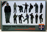 Plastic model kit Scale 1/72 WWII German panzer soldiers set 1