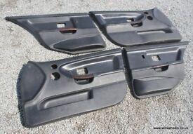 BMW E36 M3 Saloon Black Leather Door Cards Wooden Handles Rare Evo 3.0 328i 323i 325tds 320i 318i