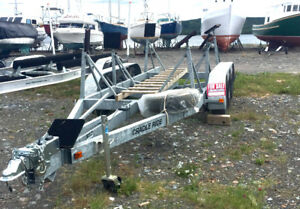 Boat trailer triple axle Cradle Ride