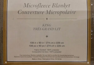 Microfleece Blanket With Satin Trim