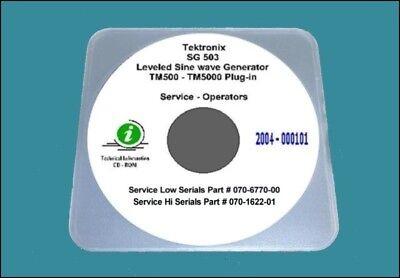 Tektronix Sg503 Generator Service Operating Manual Hi Lo Serials Diagrams
