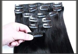 CLIP IN hair extensions,VIRGIN REMY HUMAN HAIR 7A,7 pcs,STRAIGHT Yellowknife Northwest Territories image 3