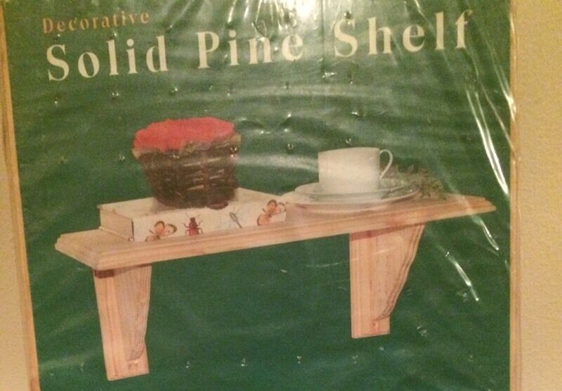 BRAND NEW solid pine shelf