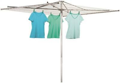 Whitney H-150 Aluminum Umbrella Clothesline Clothes Dryer Large 182 Feet