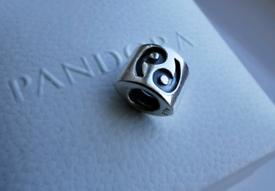 PANDORA Genuine Zodiac Charm Cancer. Rare Charm in Sterling Silver.