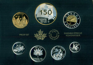 2017 FINE SILVER PROOF SET CANADA 150:OUR HOME AND NATIVE LAND
