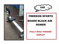 ROGER BLACK AIR ROWER FULLY WORKING MISSING LCD DISPLAY