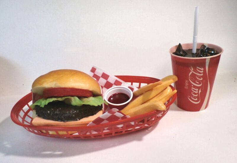 FAKE FOOD DINER CAR HOP CHEESEBURGER FRIES W/ 60