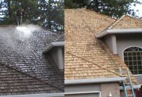 Cedar shake roof cleaning 13% off October