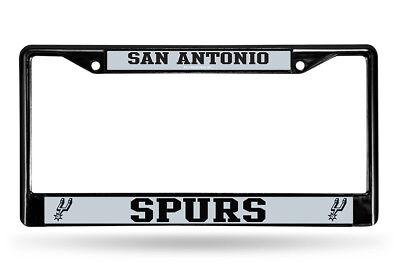 San Antonio Spurs Metal License Plate Frame - Auto Tag Holder NEW NBA Black