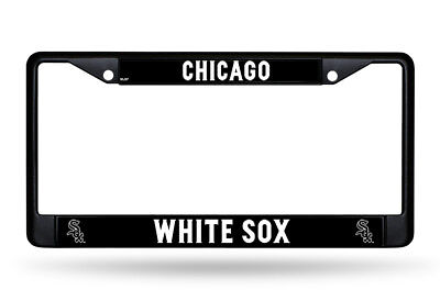 Chicago White Sox Metal License Plate Frame Car Truck Auto Tag Holder NEW Black
