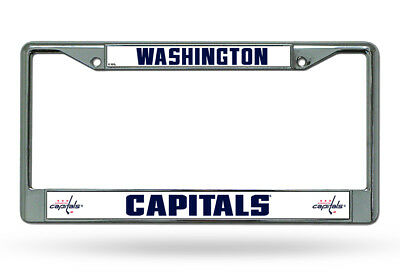 Washington Capitals Caps Chrome Metal Auto Tag License Plate Frame New NHL