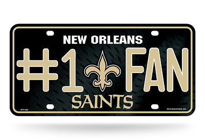 1 Fan Sign (New Orleans Saints NFL #1 Fan Metal Sign License Plate Tag Man Cave )
