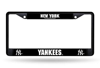 New York Yankees Metal BLACK License Plate Frame Auto Truck Car NWT