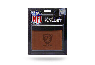 Oakland Raiders NFL Embossed Leather Trifold - Leather Oakland Raiders Tri Fold Wallet