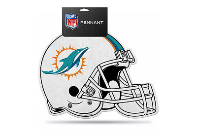 (NFL Miami Dolphins Die Cut Felt Pennant Sign Wall Man Cave Helmet NEW)