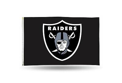 Oakland Raiders Authentic 3X5 Indoor Outdoor Flag Banner Nfl