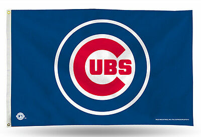 Chicago Cubs Authentic 3x5 Indoor/Outdoor Flag Banner FREE US SHIPPING MLB (Cubs Flag)