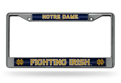 Notre Dame Fighting Irish BLING Metal Chrome License Plate Frame Auto Truck - Irish Frame