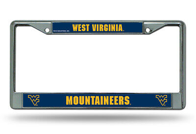 West Virginia Mountaineers WVU Football NCAA Chrome Metal License Plate Frame