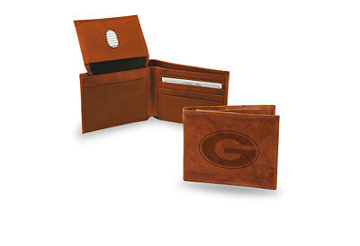 Bulldogs Mens Leather - Georgia Bulldogs STANDARD Authentic Embossed Leather Billfold Wallet NCAA NWT